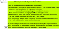 Function Review of Trigonometry