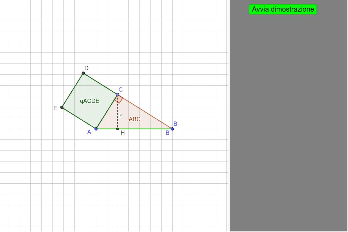 I vertici del triangolo ABC sono modificabili Premi Invio per avviare l'attività