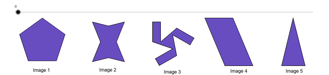 2) Does the figure have rotational symmetry? If so, describe any rotations that map the figure onto itself.  Press Enter to start activity
