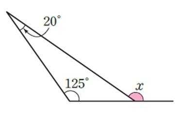 문제3. 다음 그림에서 ∠x의 크기는?