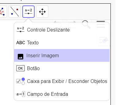 No exercício acima você pode inserir uma imagem usando o menu: