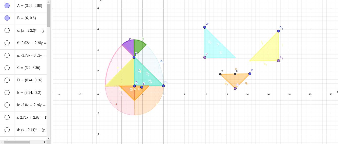 Mueve las figuras para completar el Tangram de huevo con el punto morado de cada polígono y utiliza el azul para rotar si lo necesitas rotar. Presiona Intro para comenzar la actividad