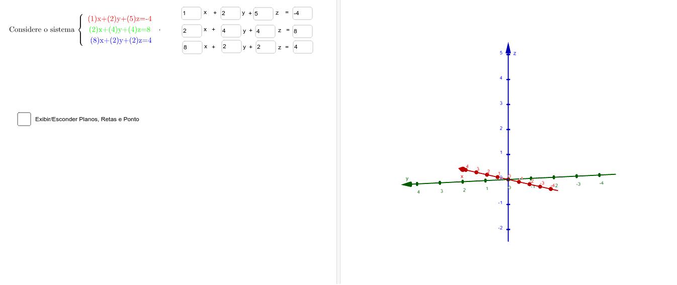 Construa um sistema de equações que seja impossível Press Enter to start activity