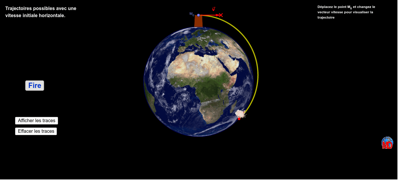 An object in orbit is just something that you yeeted hard enough so that it keeps missing the earth  Press Enter to start activity