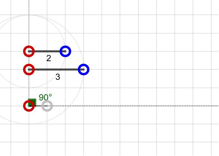과제7. 두 변의 길이가 2, 3이고 3인 변의 대각의 크기가 90º인 삼각형(SSA) 활동을 시작하려면 엔터키를 누르세요.