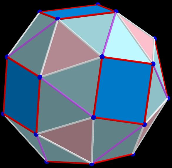 Example 11.   pmax =1.384 075 508 822 845; t=0.5, q, α, Biscribed Snub Cube(laevo), V=24.