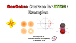 GeoGebra Courses for STEM: Examples