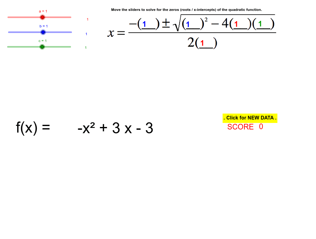 ((A-APR 3) Understand the relationship between zeros and solutions to quadratic problems.