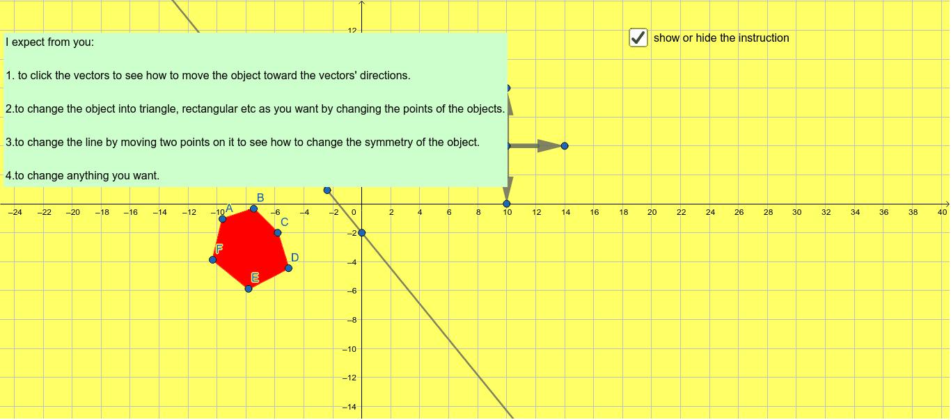 Symmetry and Translation (simetri ve öteleme) Press Enter to start activity