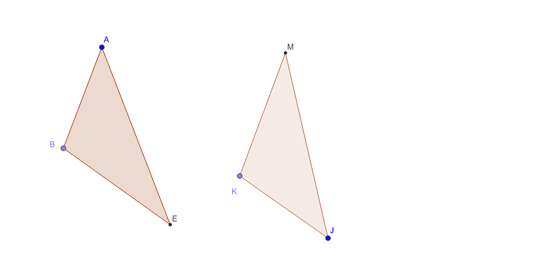 Consider the ABE and MKJ triangles Press Enter to start activity