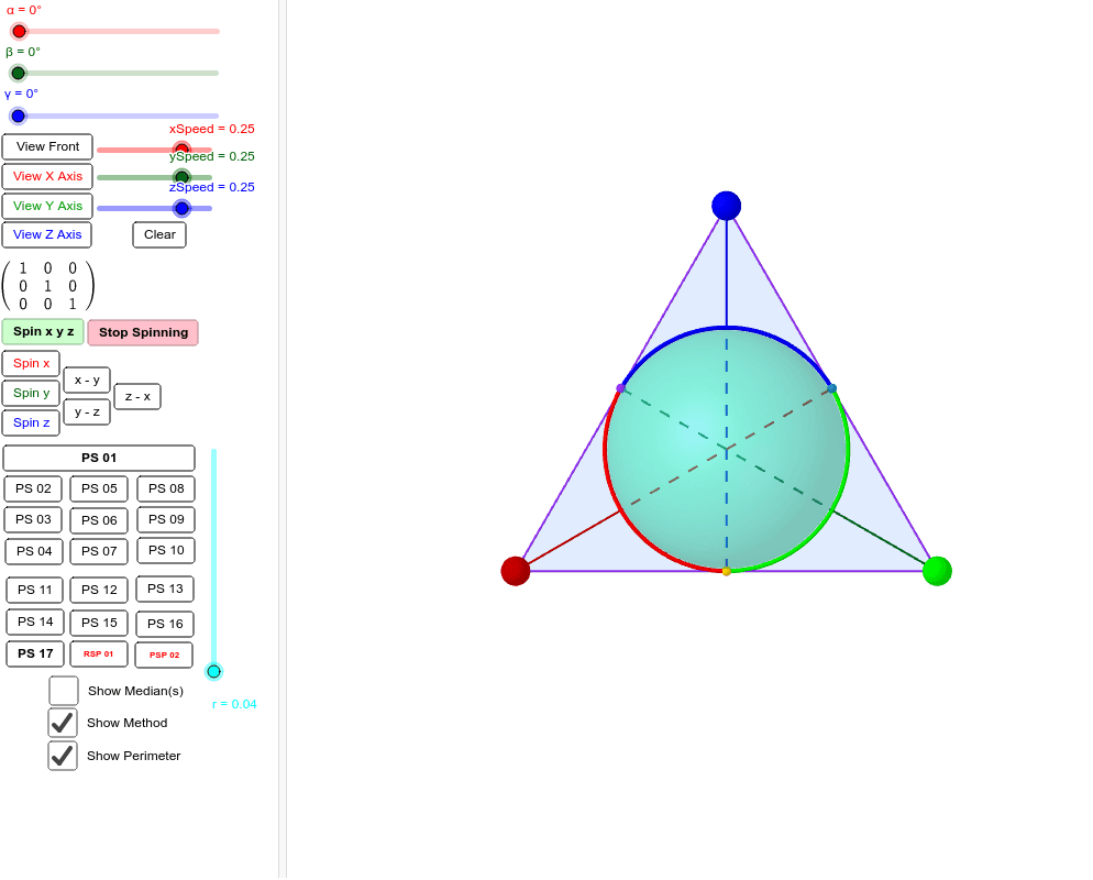 """1.) Customize slider starting positions or select a preset """"PS ##."""" - 2.) Clear unwanted """"traces."""" - 3.) Select a """"Spin"""" option. - 4.) Allow sufficient time for App to fully trace orbits. - See if you can spot the """"spin-half"""" like properties revealed. Press Enter to start activity"""