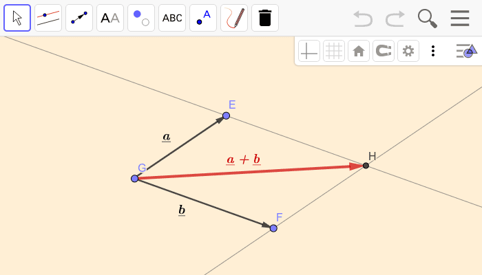 Addition (parallelogram rule) Press Enter to start activity