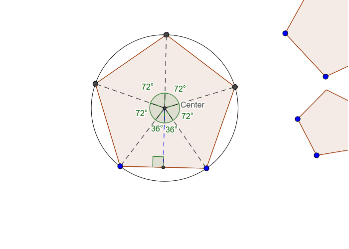 How to Make a True Pentagon using two point tool.  Press Enter to start activity
