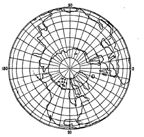 orthografische azimut projectie