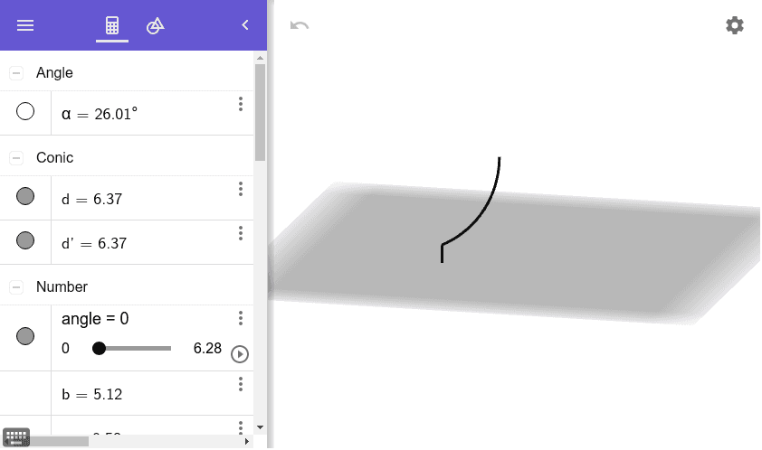 Slide the angle slider all the way to the right. Then slide the k slider all the way to the right.   Press Enter to start activity