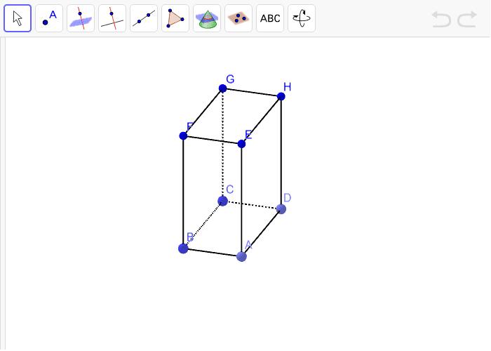 10. Istakni na kvadru tri pravca različitim bojama, dva pravca su paralelna, a treći je mimoilazan. Pritisnite Enter kako bi pokrenuli aktivnost