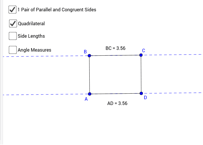 Figure #6: Parallelogram with Opposite sides Congruent Press Enter to start activity