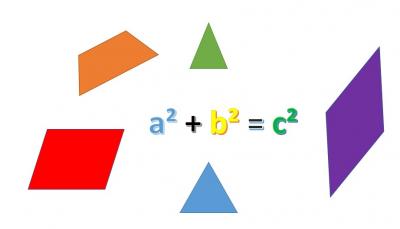 Pythagoras in Drei- und Vierecken