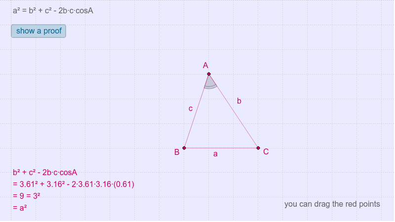Law of cosine Press Enter to start activity