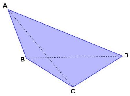 Na figura acima, os segmentosAC eBD são diagonais.