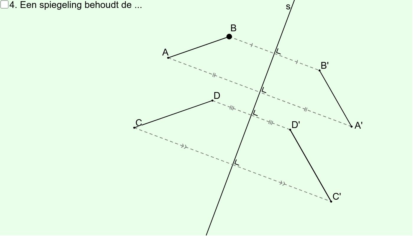 Spiegeling (Eigenschap nr. 4) Klik op Enter om de activiteit te starten