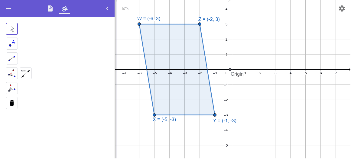 Rotate Parallelogram 180 degrees  Press Enter to start activity