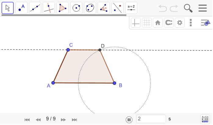 Isosceles trapezoid construction 3: Press Enter to start activity