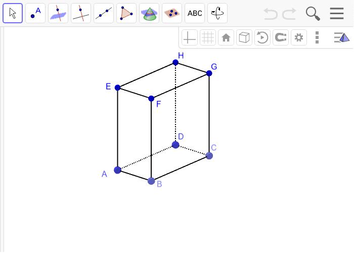 8. Istakni na kvadru tri mimoilazna pravca različitim bojama. Pritisnite Enter za pokretanje.