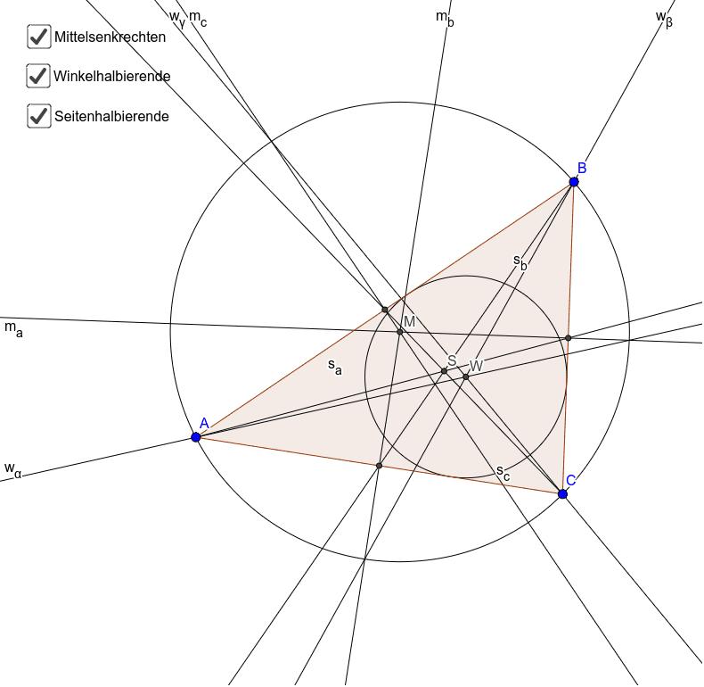Besondere Linien und Punkte im Dreieck Drücke die Eingabetaste um die Aktivität zu starten