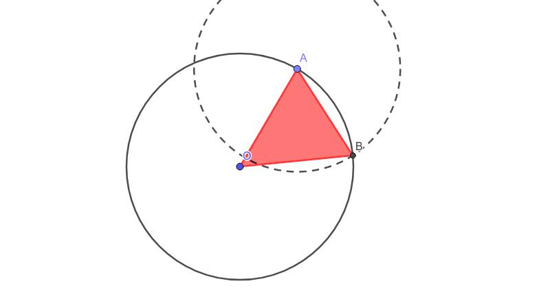 Triángulo isósceles en una circunferencia Presiona Intro para comenzar la actividad