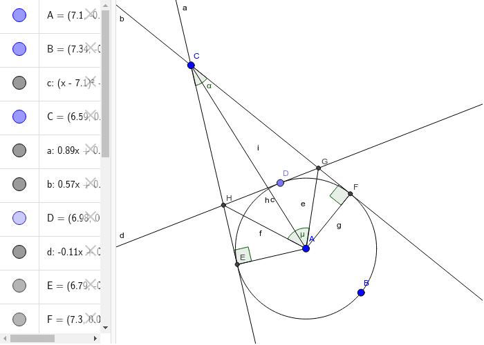 Frommenwiler. Geometrie. Aufgabe 16. Aufgabe: Berechnen µ aus α Drücke die Eingabetaste um die Aktivität zu starten
