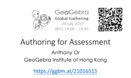 Authoring for Assessment