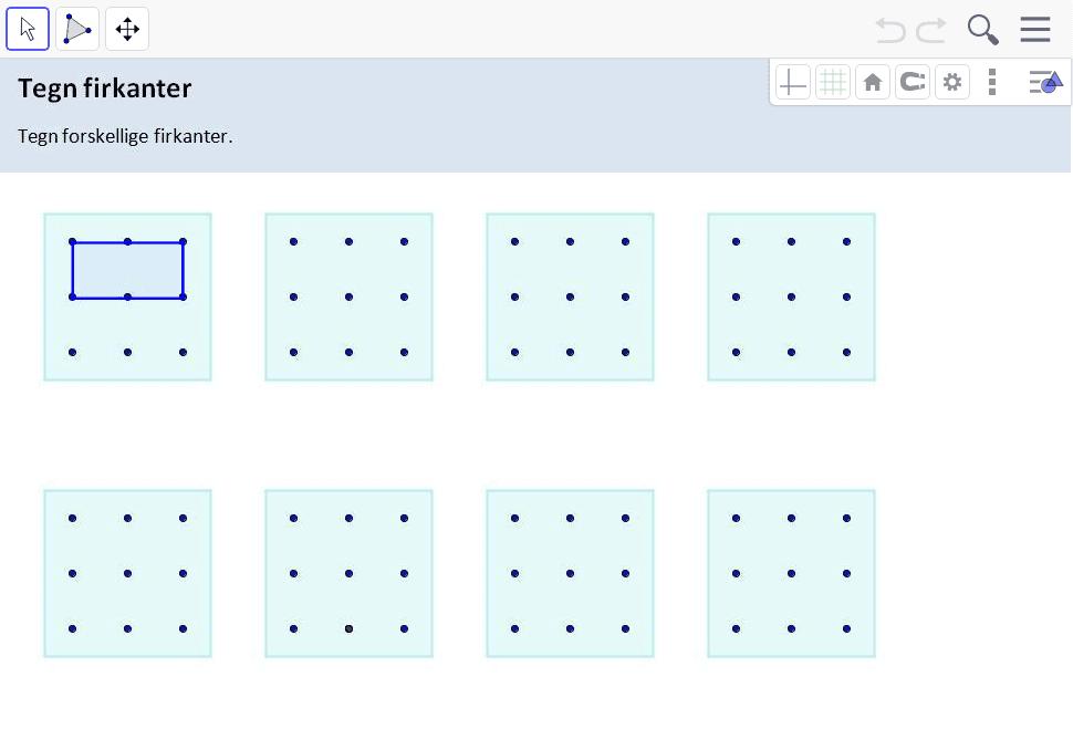 Tegn firkanter Tryk Enter for at starte aktiviteten