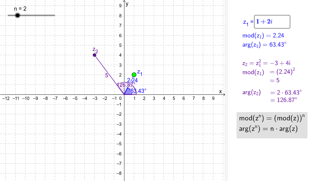 versleep z1, wijzig de exponent met de schuifknop en verken de rekenregel Klik op Enter om de activiteit te starten