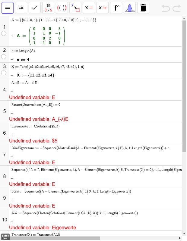DiagonalisierenMitEigenvektorenRn Drücke die Eingabetaste um die Aktivität zu starten