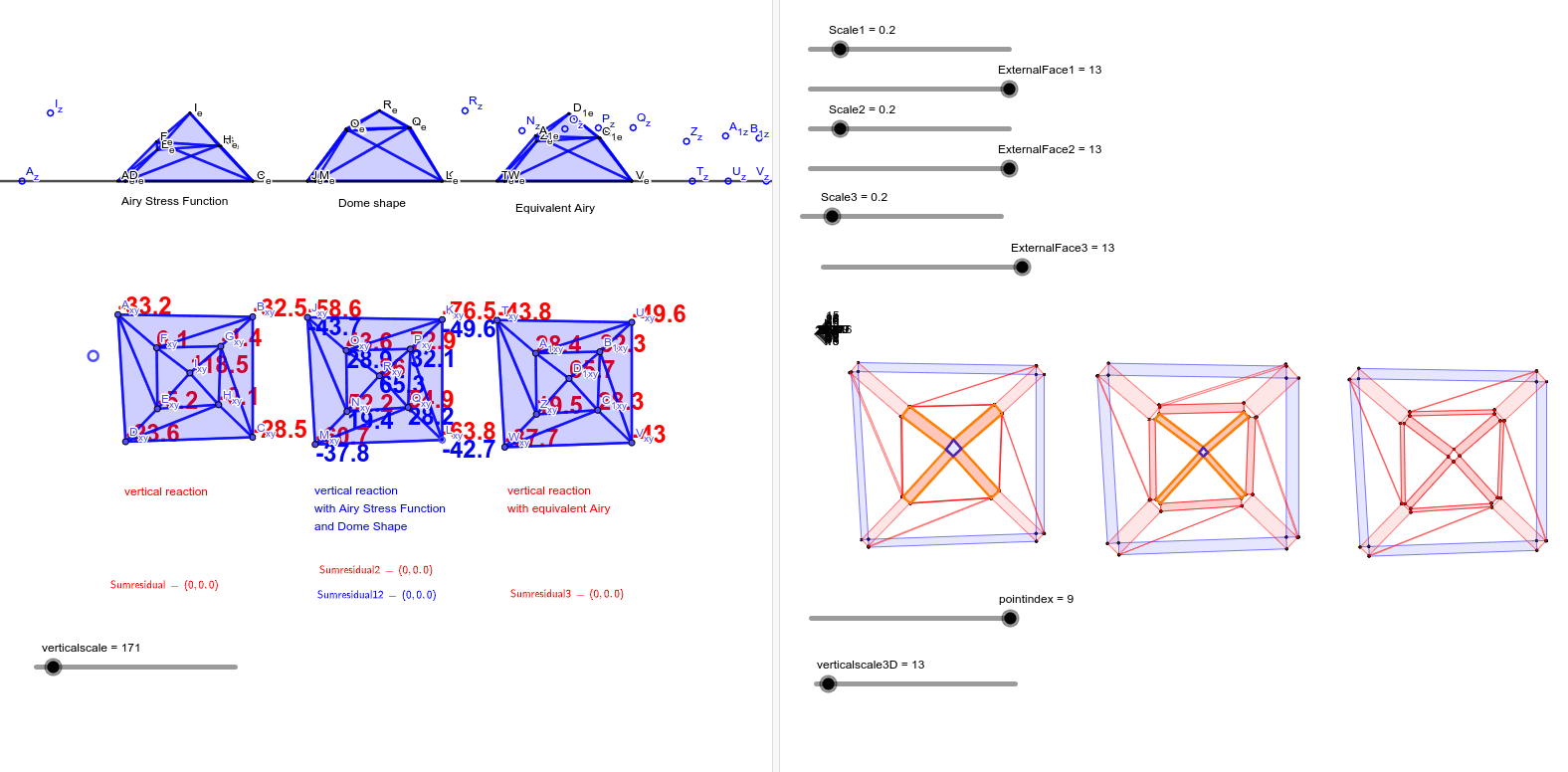 Projecting an Airy Stress Function on a dome Press Enter to start activity