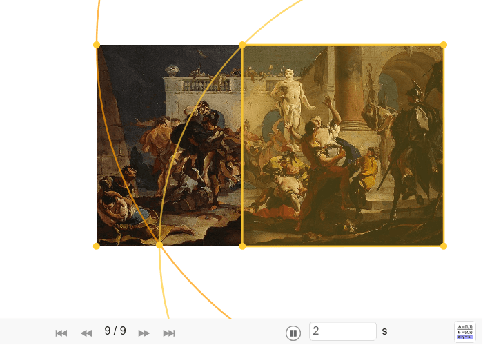 """Konstrukcija sikstona na Tiepolovoj slici """"Otmica Sabinjanki"""" Pritisnite Enter kako bi pokrenuli aktivnost"""