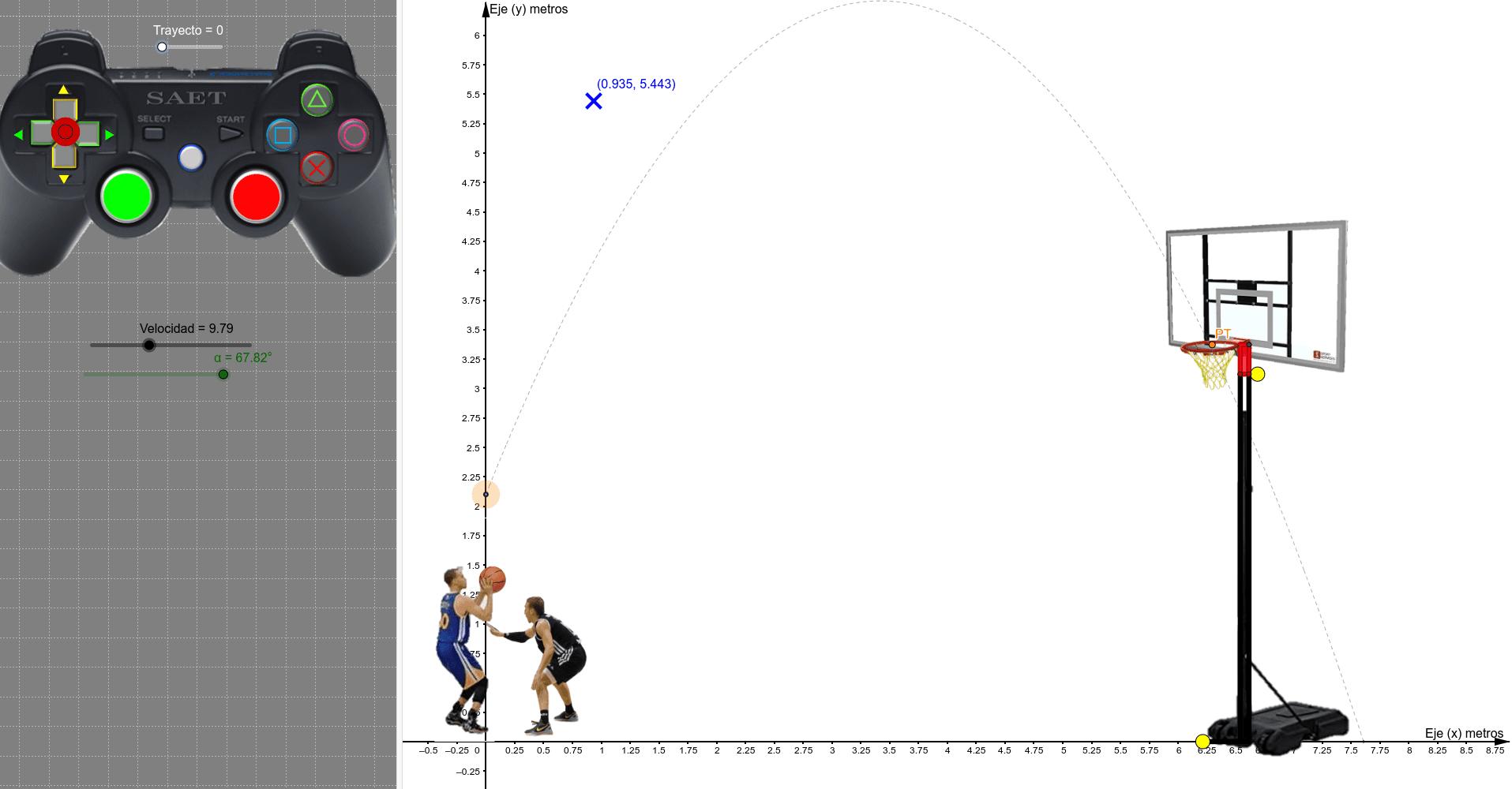 Modelado en un Juego de Baloncesto Presiona Intro para comenzar la actividad