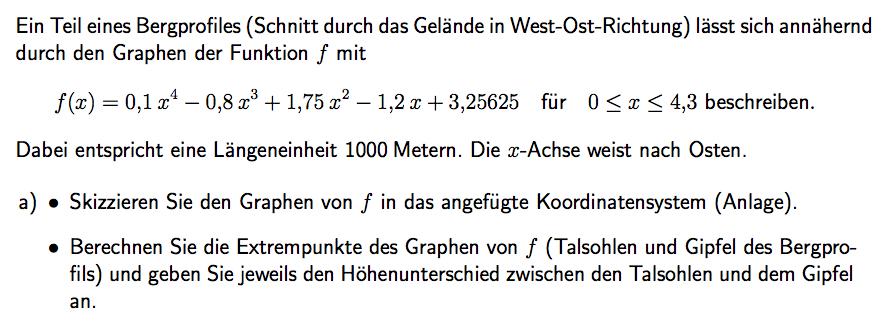 Aufgabe 2: Abitur 2015