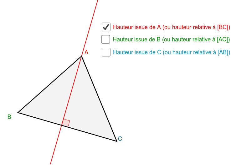 """Déplacer les sommets du triangle. Tapez """"Entrée"""" pour démarrer l'activité"""