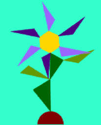 Flowers and Polygons -IT