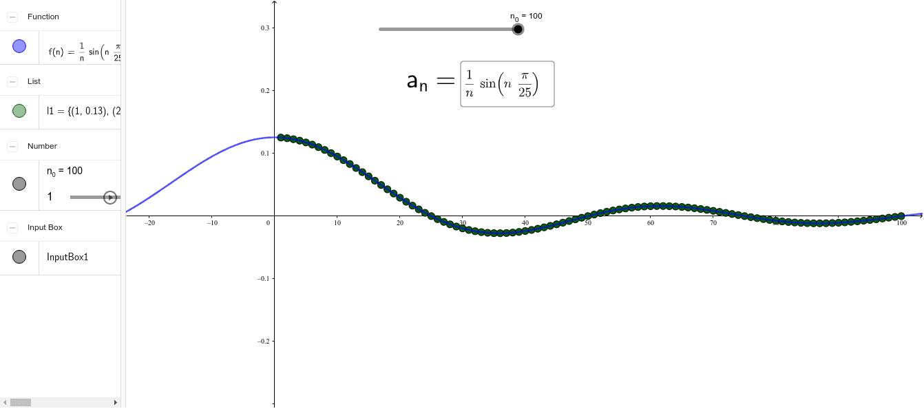 输入数列解析式 按 Enter 开始活动