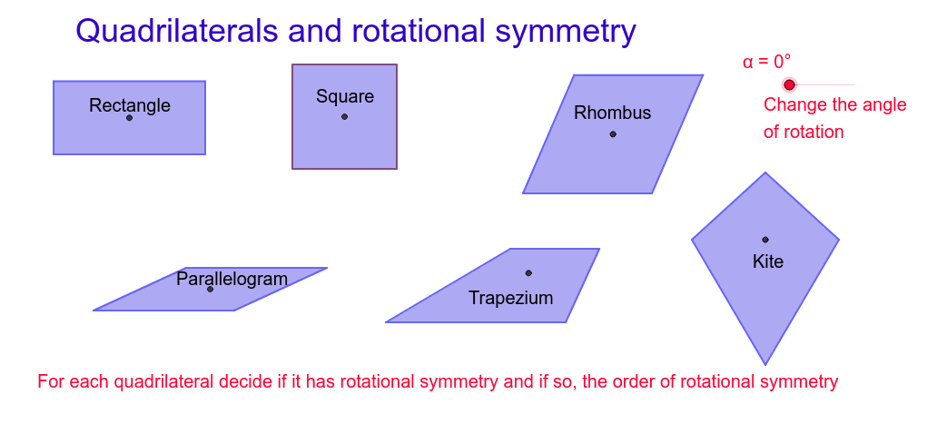 Rotational Symmetry Press Enter to start activity