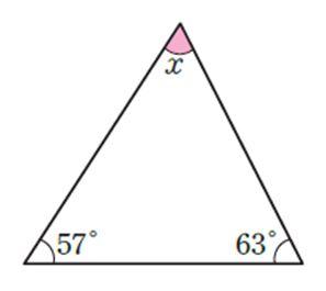 문제2. 다음 그림에서 ∠x의 크기는?