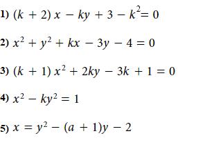 Riconosci, tra le equazioni date, quelle che rappresentano un fascio di parabole. Ricorda di motivare le tue scelte!
