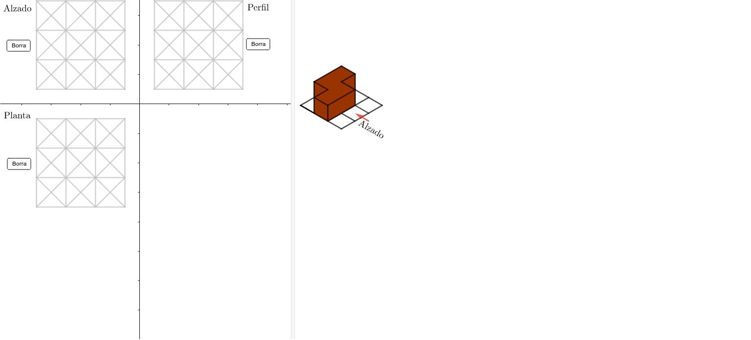 Pulsar sobre cada segmento de forma que el resultado sean cada una de las vistas de la pieza de la derecha Presiona Intro para comenzar la actividad