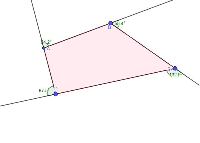 Quadrilateral Exterior Angles Press Enter to start activity