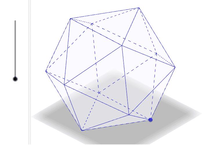 正二十面体 ワークシートを始めるにはEnter キーを押してください。