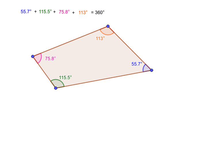 Sum of interior angles of a quadrilateral Press Enter to start activity