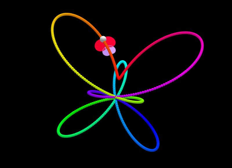 Mariposas en el espacio.  Autor: Juan Carlos Ponce Campuzano